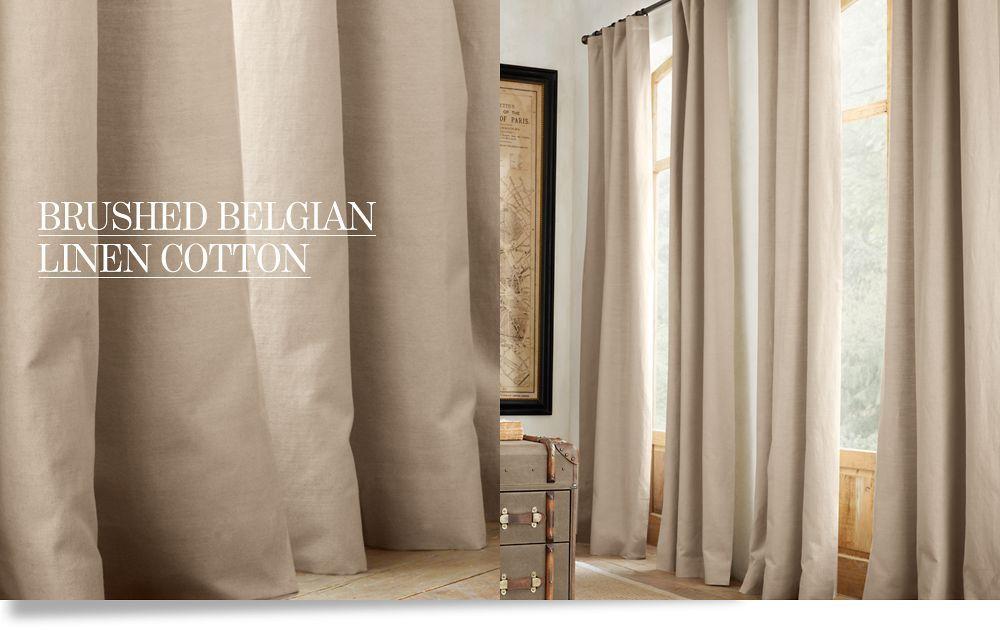 Brushed Belgian Linen Drapery