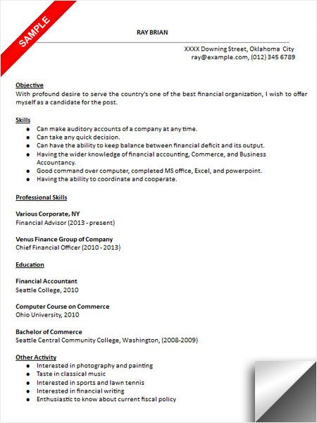 Bookkeeper Resume Sample Resume Examples Pinterest Resume examples