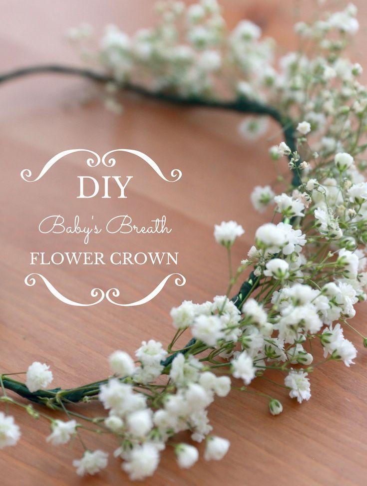 Diy Baby S Breath Flower Crown Fancier S World Diy Flower Crown Diy Floral Crown Flower Girl Crown Diy