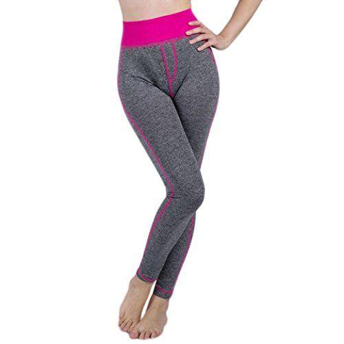 Legging de Sport Femme Taille Haute avec Poche Faux Pantalon Protection Yoga  Gym Fitness Running d6fcca8d781