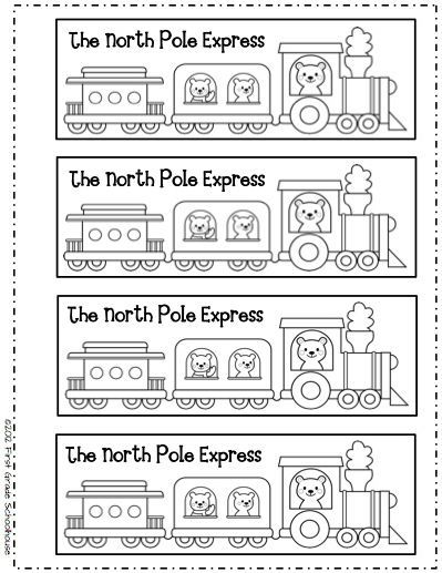 Bookmarks for the Polar Express by First Grade Schoolhouse. FREE ...