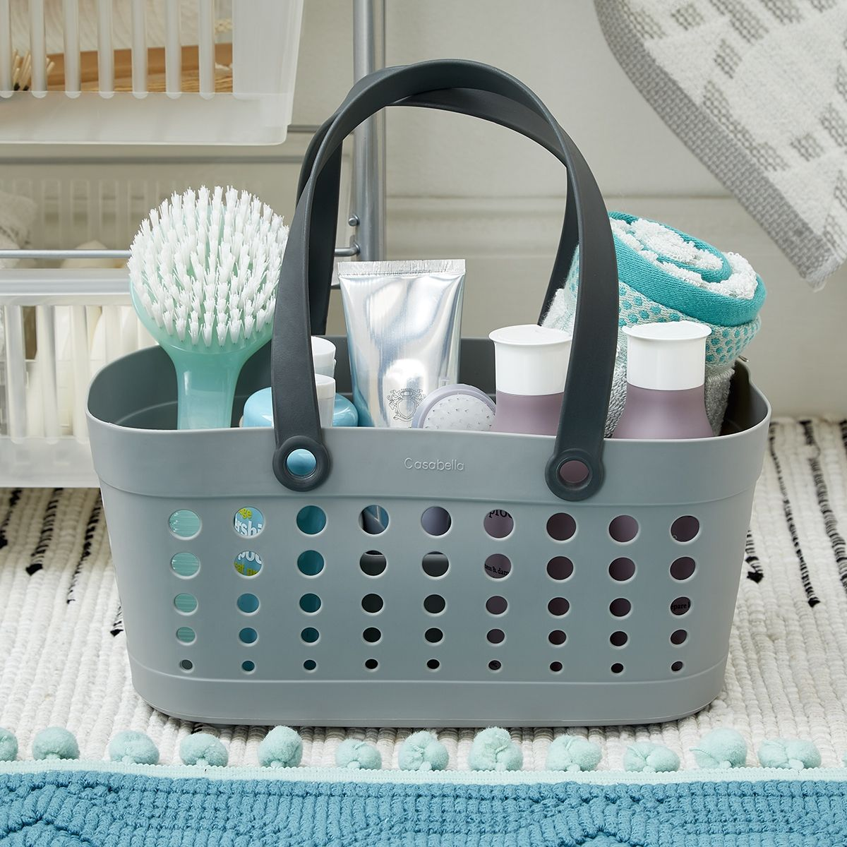 For A Quick Shower Or Relaxing Bath You Ll Have Everything At Your Fingertips With Our Bathroom Caddies And Ac Dorm Bathroom College Storage Dorm Shower Caddy