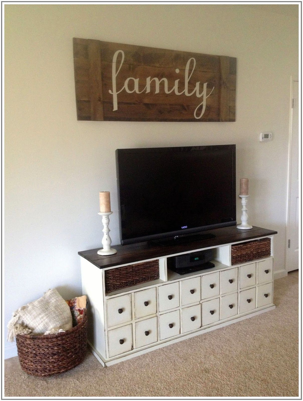 Extra Large Living Room Wall Art: DIY Extra Large Apothecary TV Stand