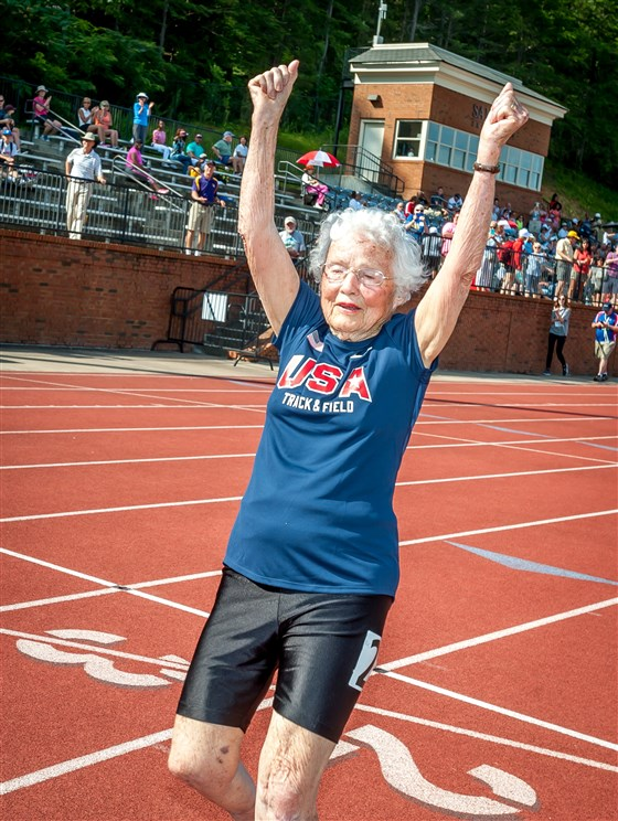 103yearold woman breaks running record, shares life