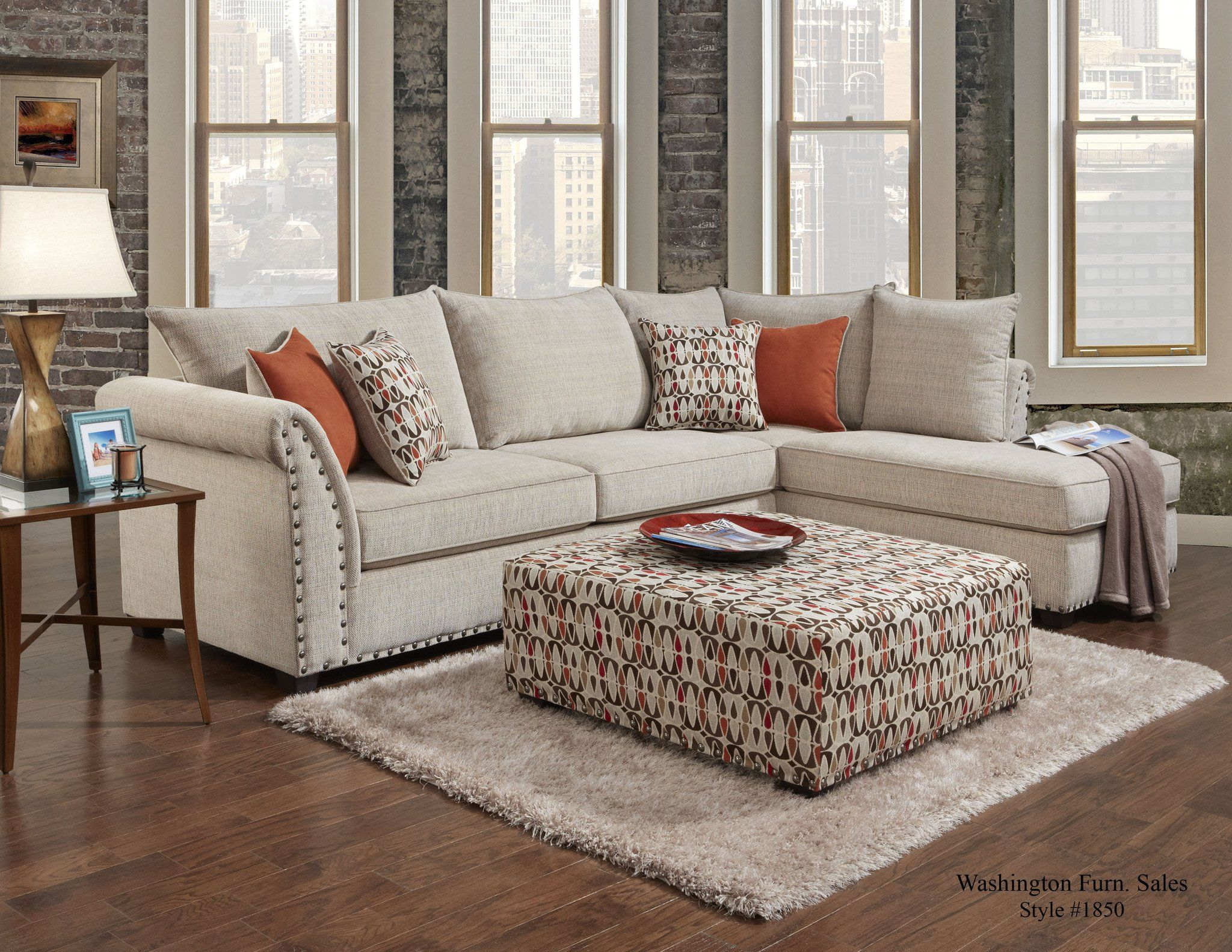 Washington Furniture 1850 Patton Beige Sectional