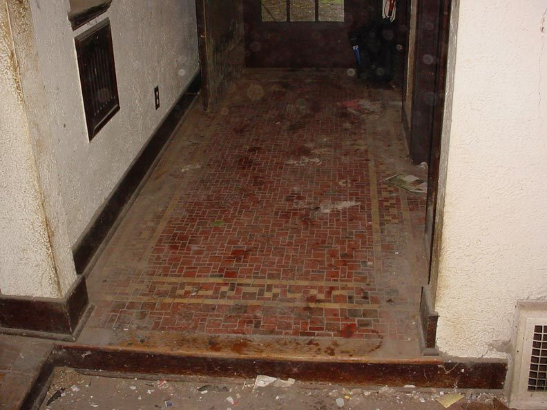 The distinctive entry tile was a distinguishing feature of the Tudor ...