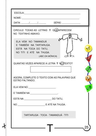 Atividades Silabicas Letra T Para Aprender Ler E Escrever