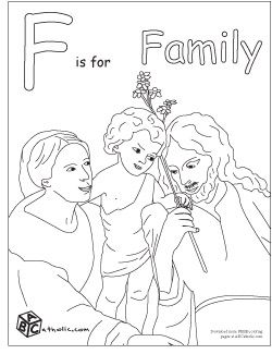 F is for Family coloring page | Faith Filled Family | Pinterest ...