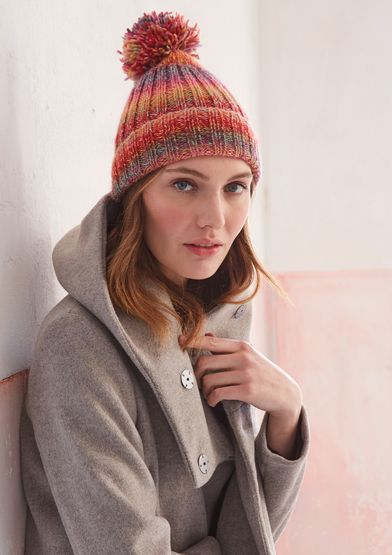 Hat | Patons | Knitted hats, Bobble hats, Knitting