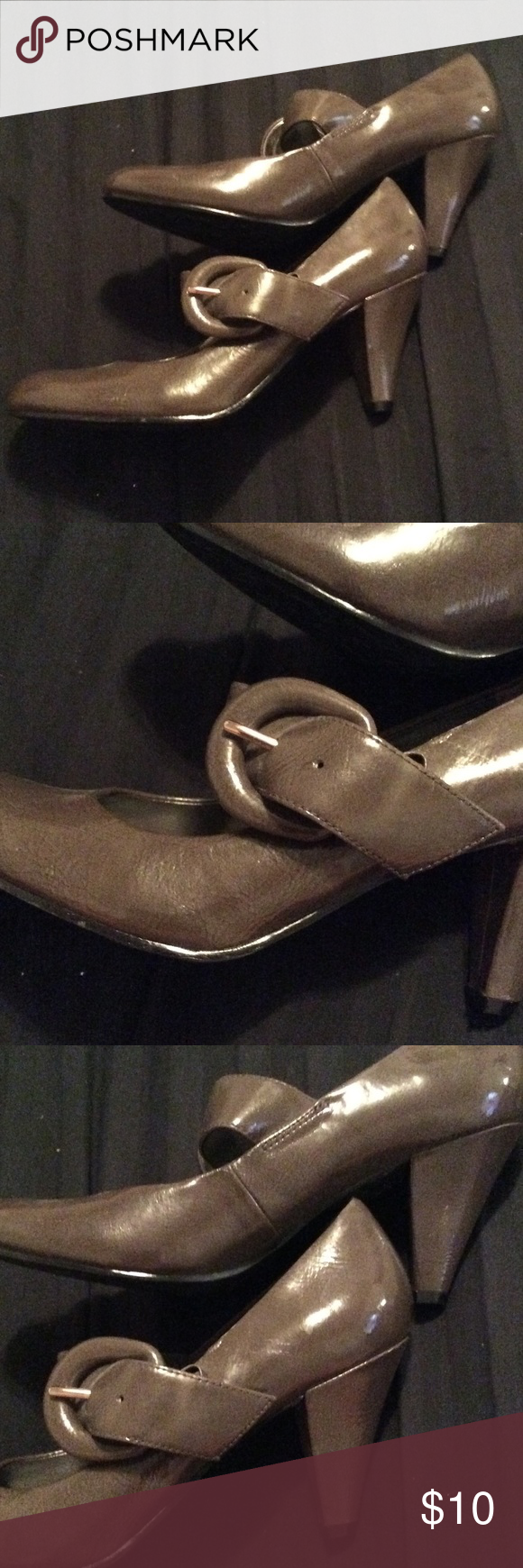 Brown Mary Jane Style Heels Great item. Never worn. Apx 2 inch heel. Any questions please ask. Shoes Heels
