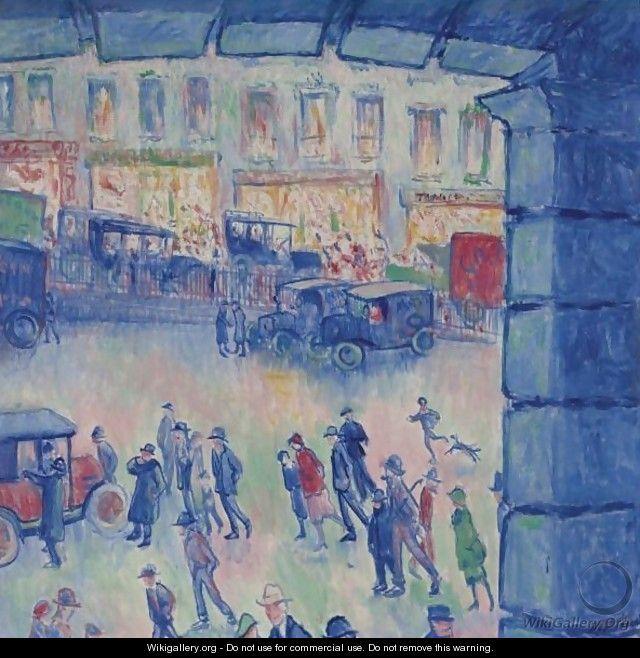 La Cour De Rome Et La Gare Saint-Lazare - Theodore Butler