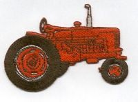 Green Farmers Tractor Agricultural Farm Iron// Sew On Embroidered Cloth Patch NEW