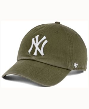 81c7e76961d  47 Brand New York Yankees Olive White Clean Up Cap - Green Adjustable.