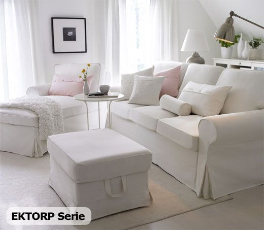 EKTORP Sofa and chaise Love B HOUSES Pinterest Wohnzimmer