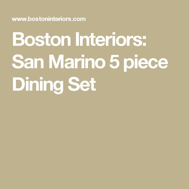 Boston Interiors: San Marino 5 Piece Dining Set