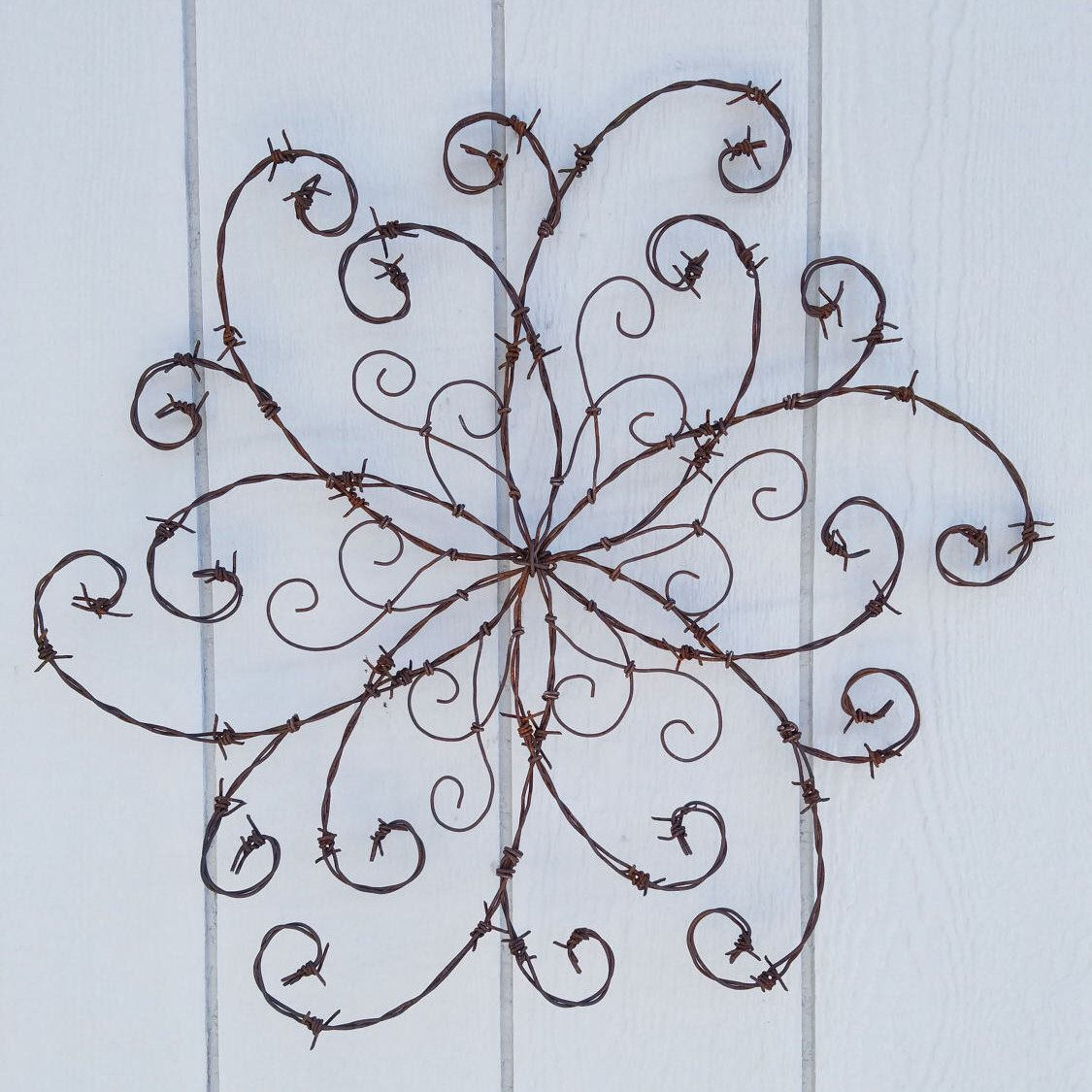 Barbed Wire Swirl; Wrought Iron Swirl; Barbed Wire Wall Decor; Rustic Decor; Front Door; Wall Hanging; Farmhouse Decor; Western Decor  sc 1 st  Pinterest & Barbed Wire Swirl; Wrought Iron Swirl; Barbed Wire Wall Decor ...