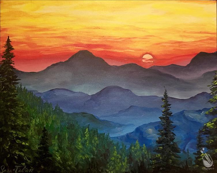 Pin By Ginger Sloan Billingsley On Art In 2020 Mountain Painting Acrylic Mountain Paintings Painting