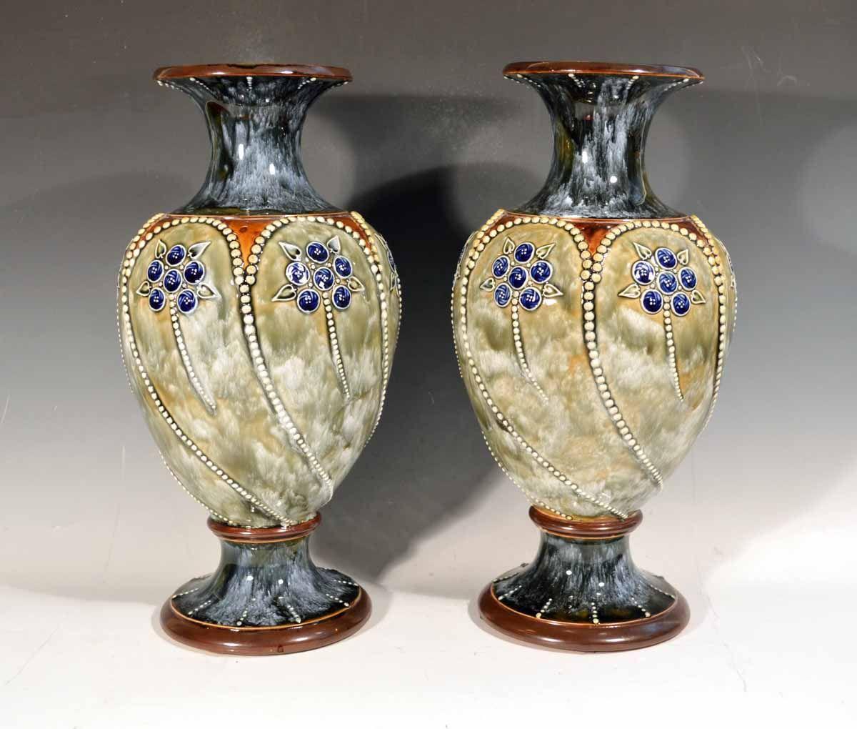 Royal doulton marbled pottery vases 1903 05 british antique royal doulton marbled pottery vases 1903 05 reviewsmspy