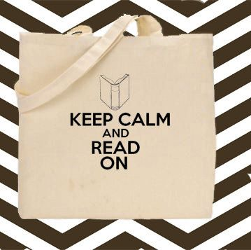 Keep Calm and Read On Cotton Canvas Tote Bag