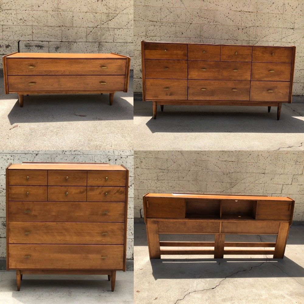 Best Conant Ball Furniture Makers 4 Pc Bedroom Set Mid Century 400 x 300