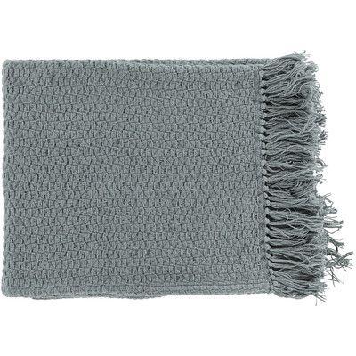 Mercury Row Polaris Cotton Throw Blanket Color: Gray