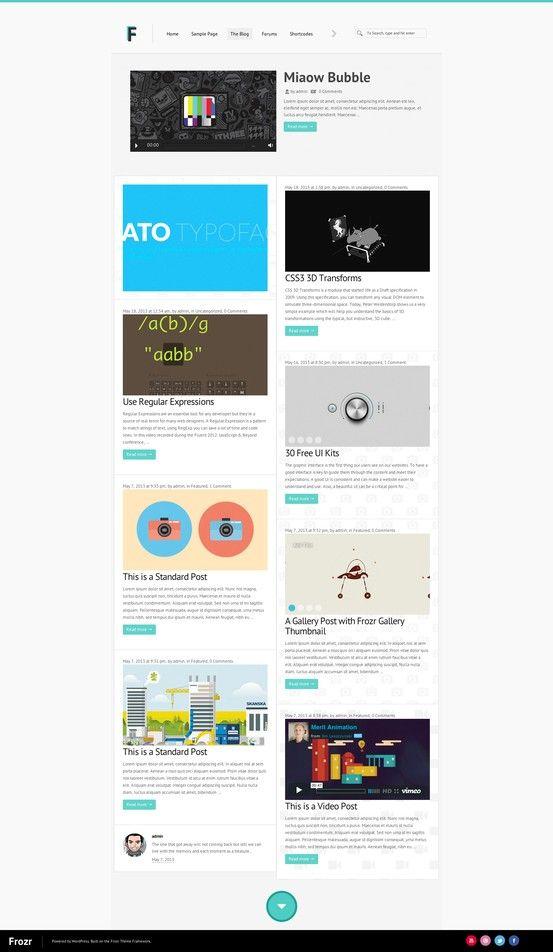 frozr a multipurpose wordpress theme wordpress theme website