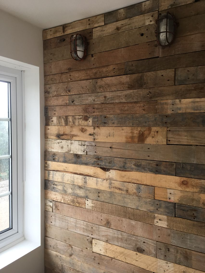 Pallet Wood Wall Cladding Clad Rustic Office Rusty Light Bulk