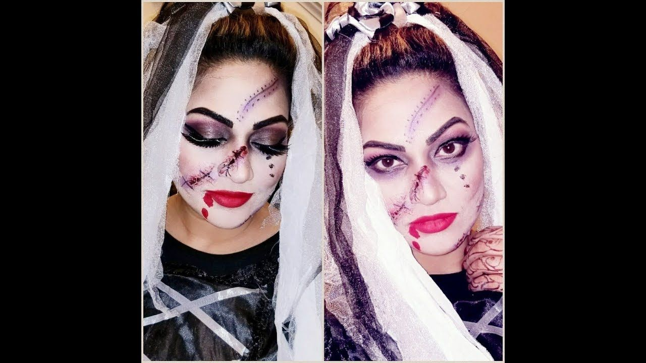 Bride of darkness Halloween full Makeup tutorial stepby