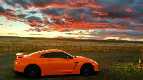 Nissan Gtr Car 4k Hd Desktop Wallpaper For 4k Ultra Hd Tv: Orange Nissan GTR Wallpaper In 4K Ultra HD