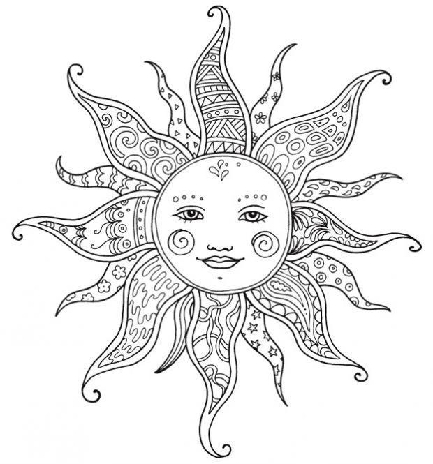 Die Grosse Zencolor Gold Edition 333 Motive Zum Ausmalen Amp Entspannen Monisbastelkiste Moon Coloring Pages Coloring Books Sun Coloring Pages