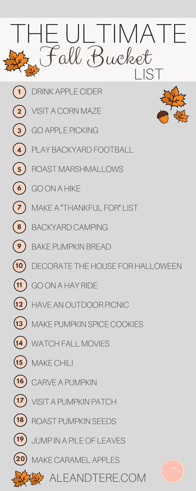 FALL BUCKET LIST + A FREE PRINTABLE #fallseason