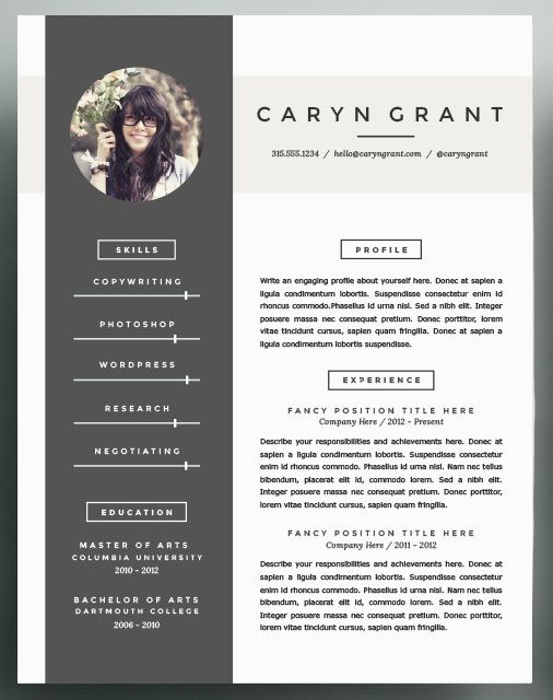 beautiful resume inspiration to take into 2016