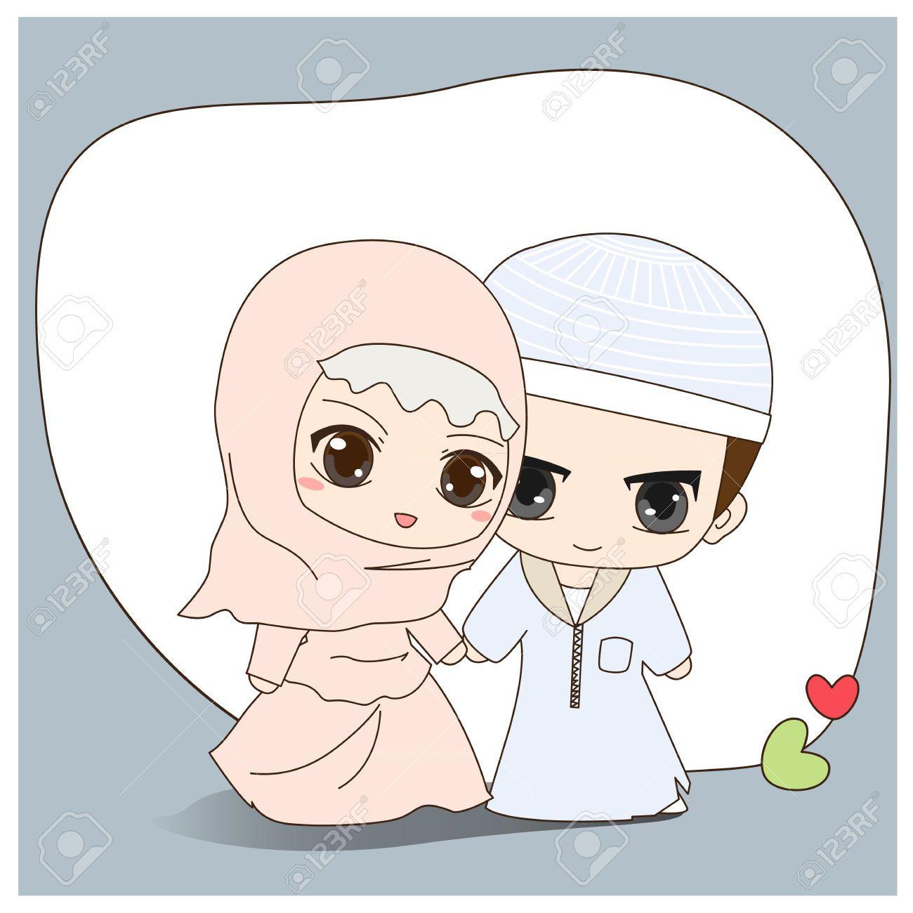 Gambar Kartun Muslimah Nikah