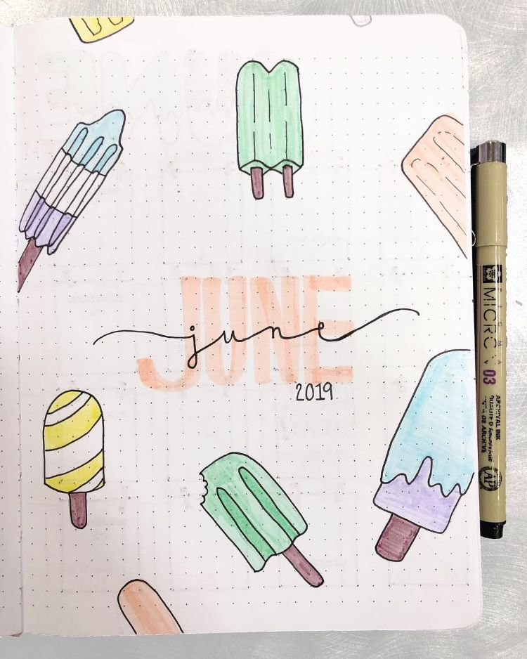 28 Best Bullet Journal Spreads for June