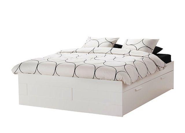 Before After Ikea Brimnes Bed Brimnes Bett Ikea Bett Und