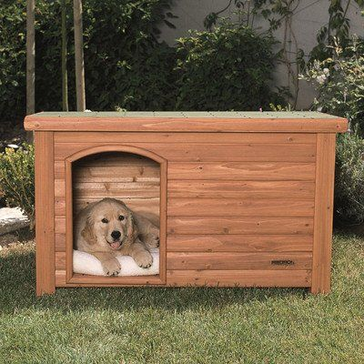 Outback Log Cabin Dog House Size Medium 46 X 27 X 28 Shelter Sleep Dog See Reviews And Pricing Http Log Cabin Dog House Dog House Large Dog House