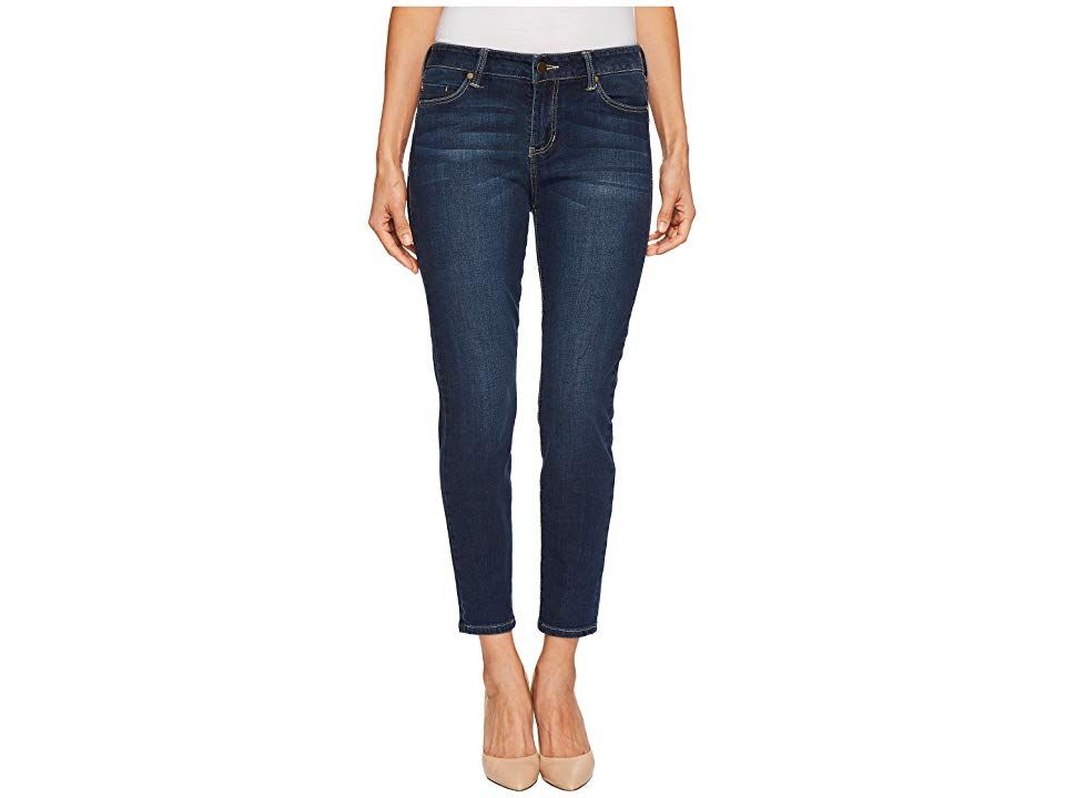 Liverpool Petite Piper Hugger Ankle Skinny with Shaping and Slimming FourWay Stretch Denim in Lynx Wash Lynx Wash Womens Jeans The coolest look around The Piper is a midr...