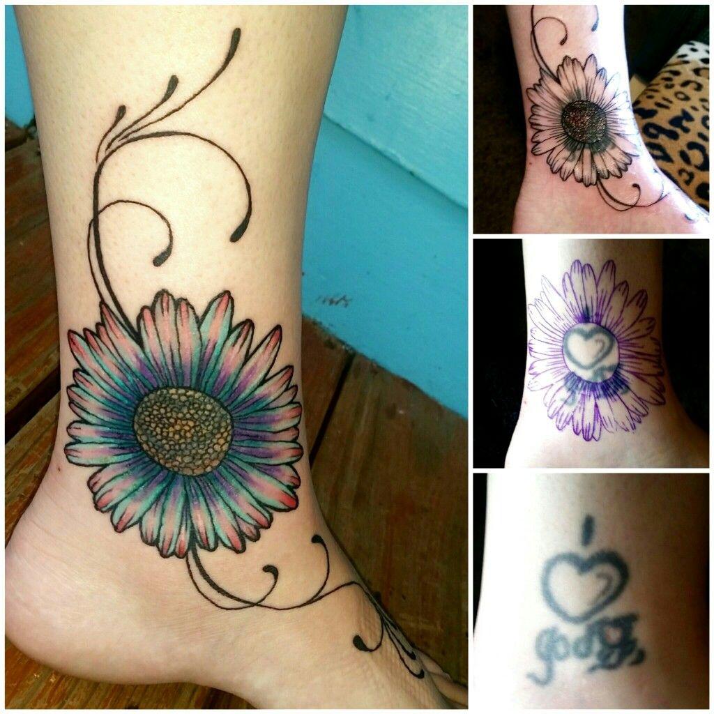 coverup daisy tattoo girly Dreamcatcher tattoo, Girly