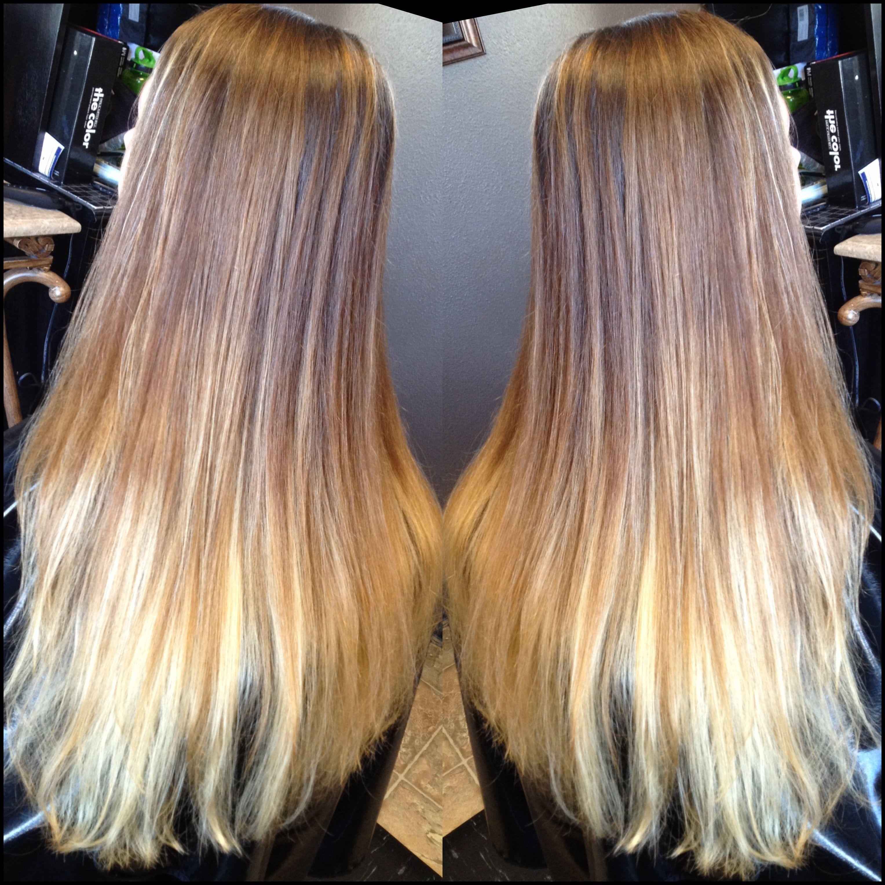 Balayage Ombr Long Layered Haircut Hair By Jessica In Salem