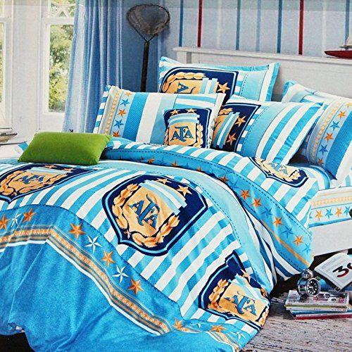 Amazon.com: FADFAY Home Textile,Cool Boys Soccer Bedding Sets,Cotton Bed