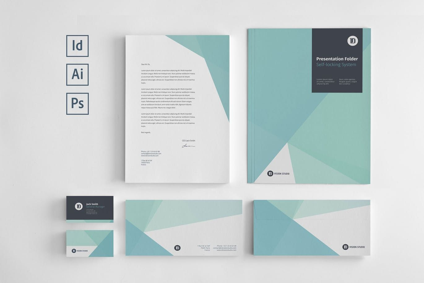 Stationery Corporate Identity 005 by ID_Vision_Studio on