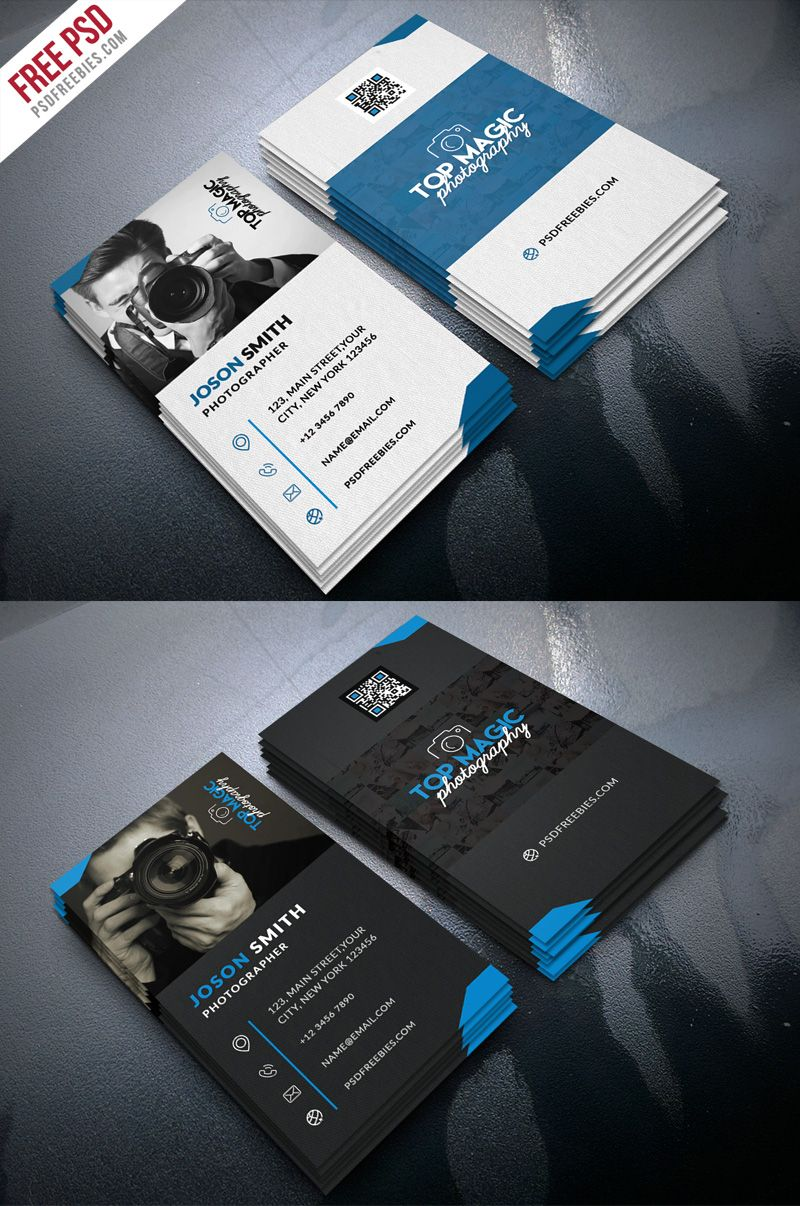 Photographer Business Card Psd Bundle Psdfreebies Com Photography Business Cards Template Photographer Business Cards Free Business Card Templates