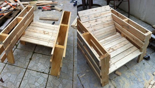 Tutoriel pour un salon de jardin | Palette bois, Meuble ...
