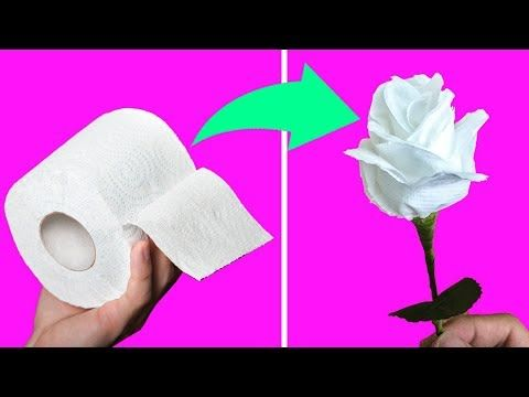 04 Toilet Paper Flowers Diy Youtube Heart Shape Pinterest