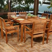 Good Amazonia Milano Wood 8 Person Dining Set