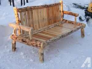Alaskan Log Futon Frame Anchorage For In
