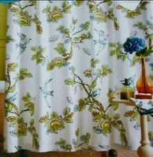 Home Threshold Target Botanical Blue Bird Shower Curtain I Use Two Of Them On A Large Window
