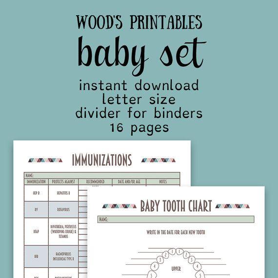 Baby Binder PDF Printable; Binder Printables, Home Binder