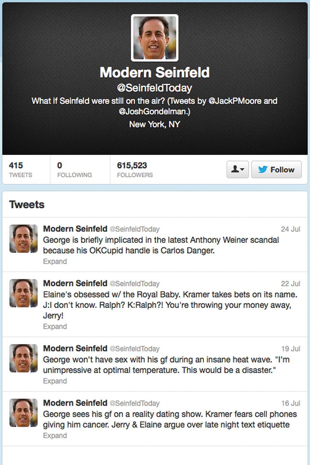 Modern Seinfeld Twitter Account Lands Creator A Sitcom Job Seinfeld Book Deals Sitcom