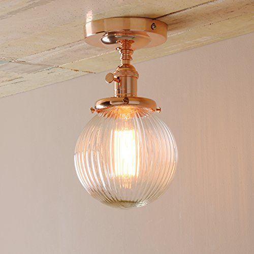 Pathson industrial modern vintage retro flush mount ceiling pendant light fittings loft bar kitchen island lamp